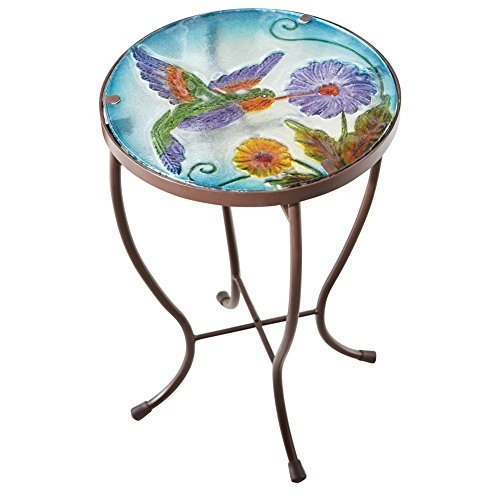 Hummingbird Garden Patio Accent Table by Collections Etc