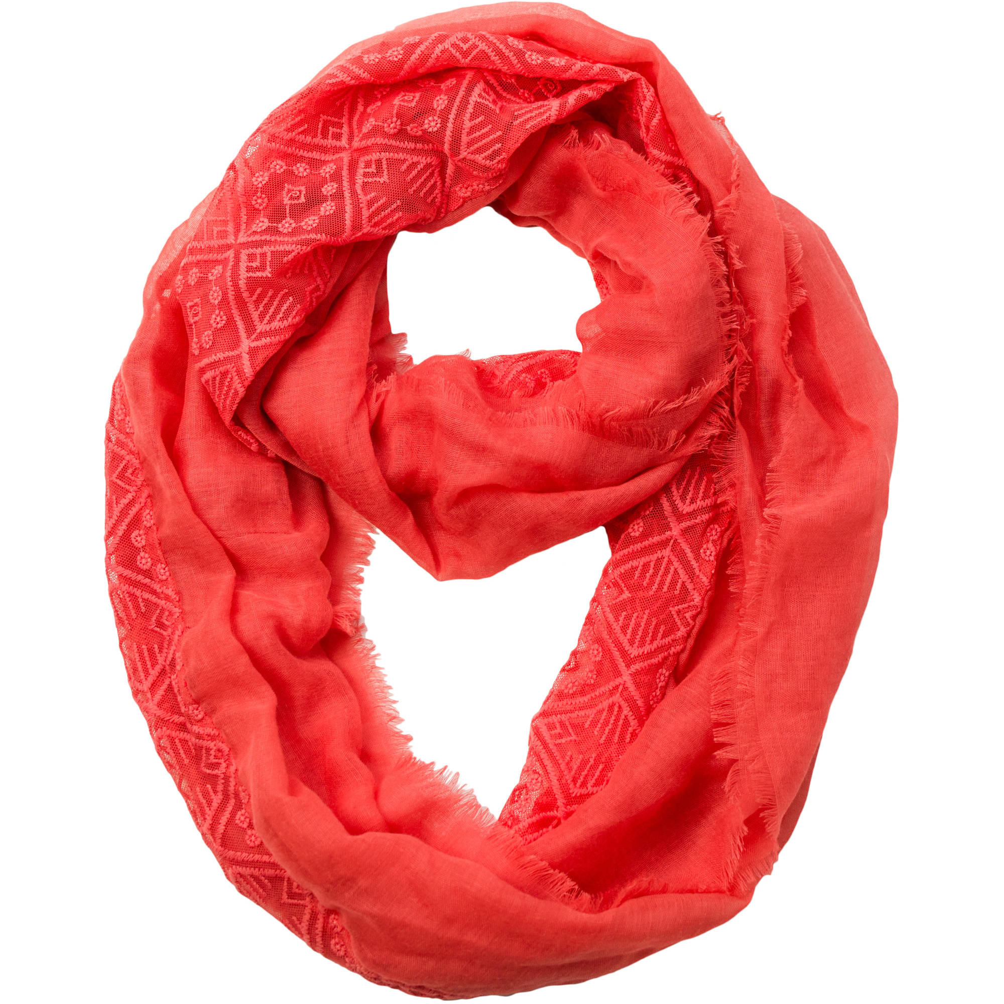 Women's Faded Glory Diamond Lace Infinity Scarf
