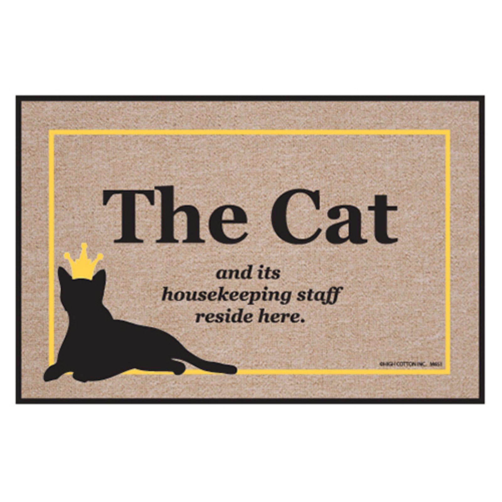 High Cotton Cat Housekeeping Staff Indoor / Outdoor Door Mat