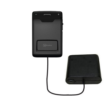 Hands Free Emergency Speakerphone - Portable Emergency AA Battery Charger Extender suitable for the BlueAnt Sense Speakerphone - with Gomadic Brand TipExchange Technology