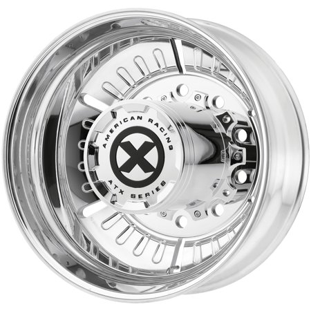 "ATX AO403 Roulette Rear 22.5x8.25 10x285.75 Polished Wheel Rim 22.5"" Inch"