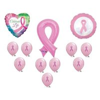 Breast Cancer Awareness Balloons Decorations Supplies Pink Ribbon Relay For Life by Anagram