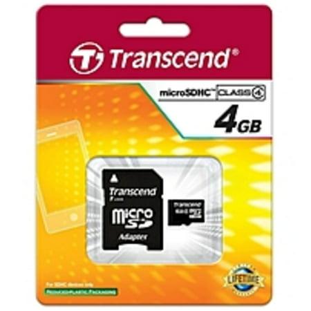 Transcend 4GB Class 4 microSDHC (Memory Stick Micro 4 Gb)