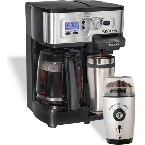 Hamilton Beach 2-Way FlexBrew Coffee Maker with Bonus Fresh Grind Coffee Grinder