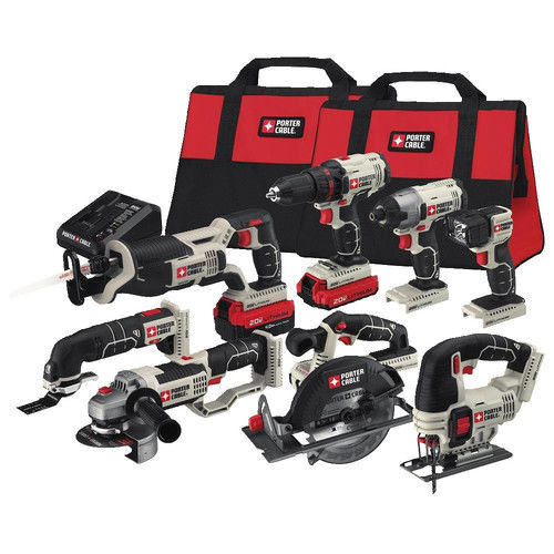 Porter-Cable PCCK619L8 20V MAX Cordless Lithium-Ion 8-Tool Combo Kit by Porter-Cable