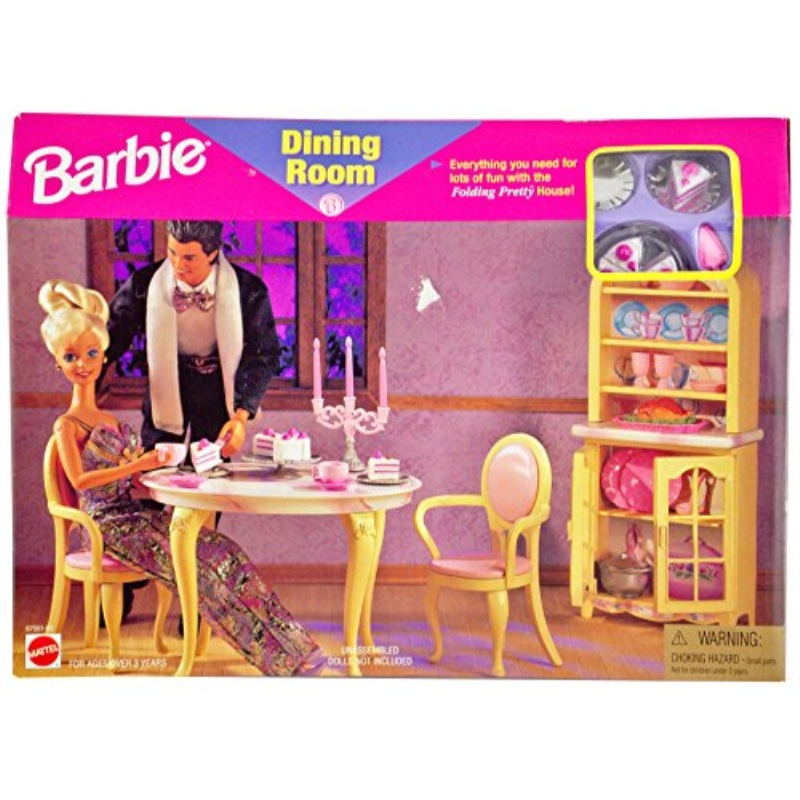 barbie dining room for folding pretty house walmart com rh walmart com barbie light up dining room barbie dining room furniture