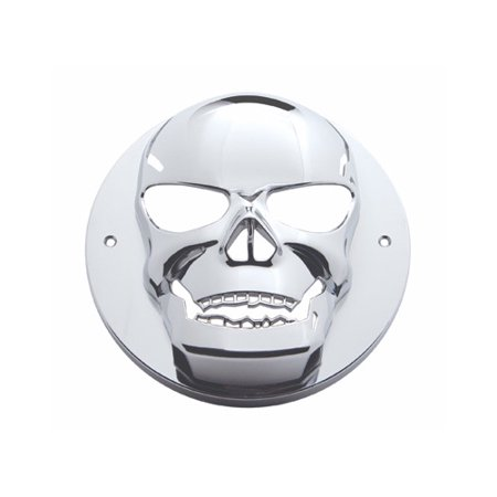 Round Chrome Skull Bezel / Covers 2.5