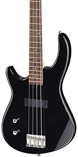 Dean E09 Bass Guitar, Left Handed Classic Black by