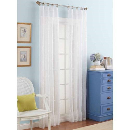 Click here to buy Better Homes and Gardens Embroidered Sheer Curtain Panel by VCNY Home.