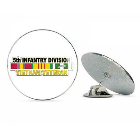 """U.S. Army 5th Infantry Division Vietnam Veteran Metal 0.75"""" Lapel Hat Pin Tie Tack Pinback"""
