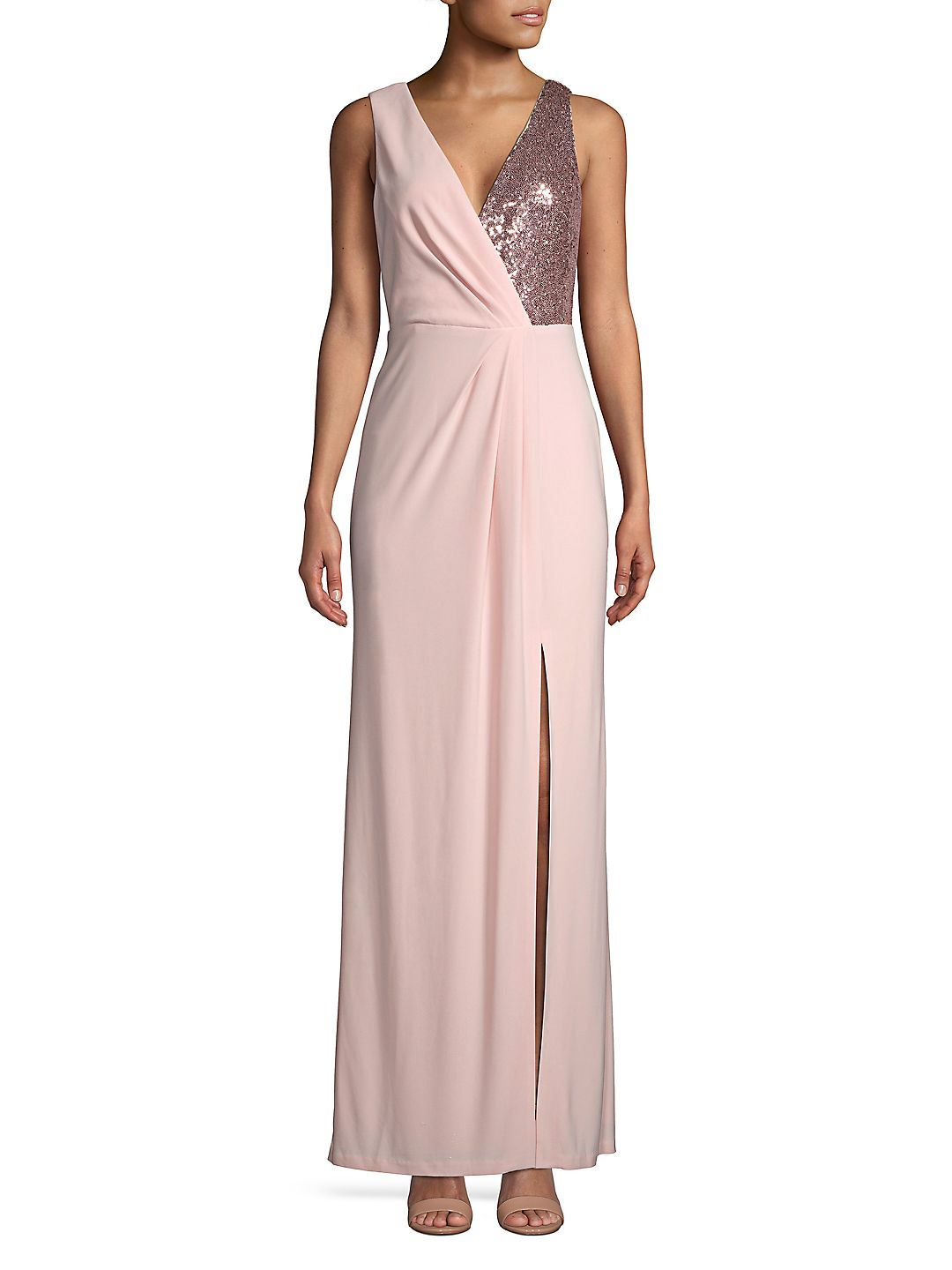 Sequin Chiffon Gown