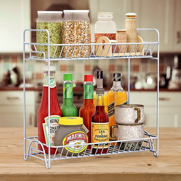 Stainless Steel Wall Mounted Kitchen Storage Organizer Shelf Condiment Holder