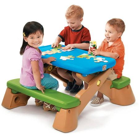 Folding Picnic Table Walmart.Step2 Play Up Fun Folding Jr Picnic Table