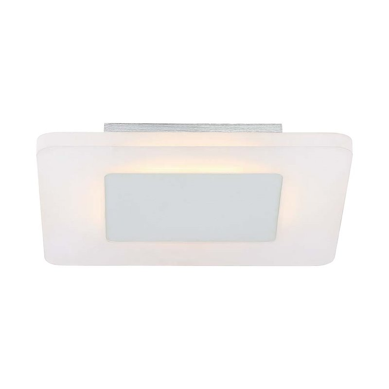 Quoizel Platinum Aglow Small Square Led Flush Mount In