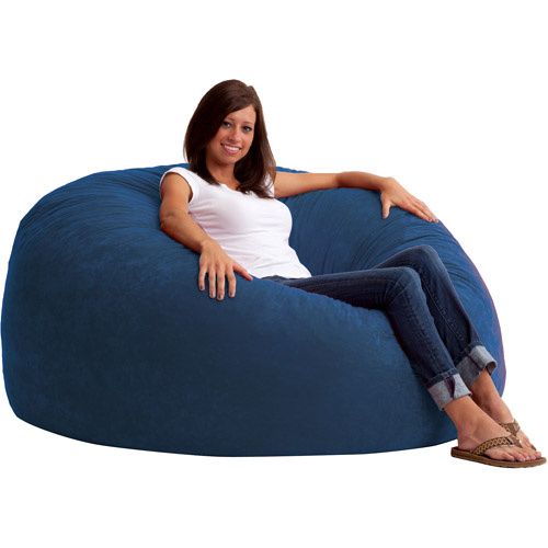 King 5u0027 Fuf Comfort Suede Bean Bag Chair, Multiple Colors   Walmart.com