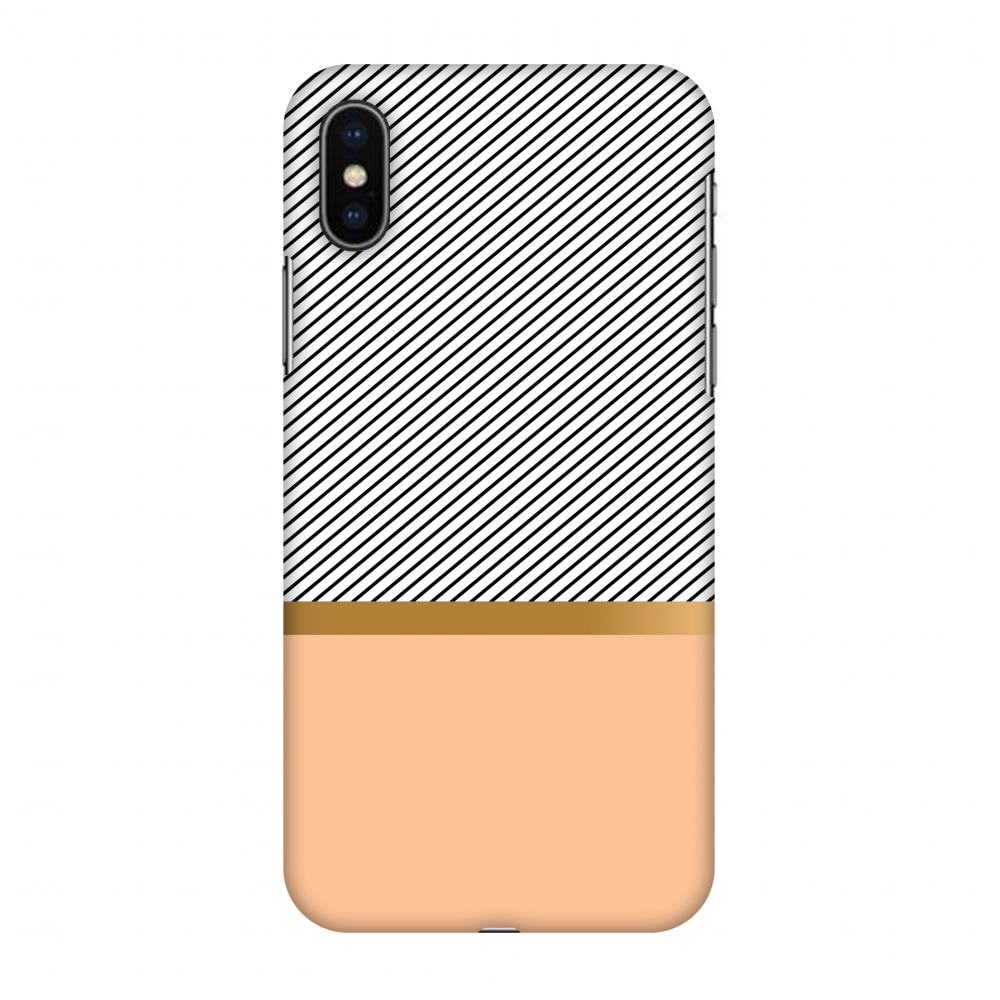 iPhone X Case - Stripe Away, Hard Plastic Back Cover. Slim Profile Cute Printed Designer Snap on Case with Screen Cleaning Kit