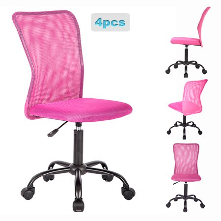 - Set Of 4 Mid-Back Mesh Office Chair Computer Task Swivel Seat Ergonomic Chair