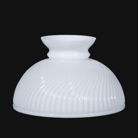 "B&P Lamp® 10"" Shade, Stu, Opal, Rib Swirl"