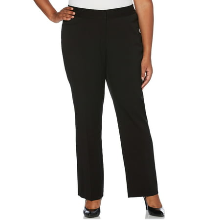 Women's plus size curvy fit gabardine slim leg pant ()