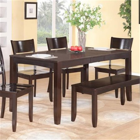 Wooden Imports Furniture LY-T-CAP Lynfield Rectangular Dining Table - Cappuccino ()