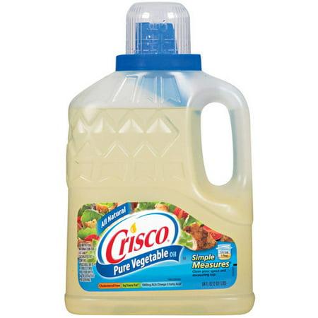 Crisco Vegetable Pure All Natural Oil, 64 fl oz - Walmart.com