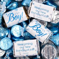 It's a Boy Candy 3lb Blue Baby Shower - Hershey's Miniatures, Kisses & JC Peanut Butter Cups