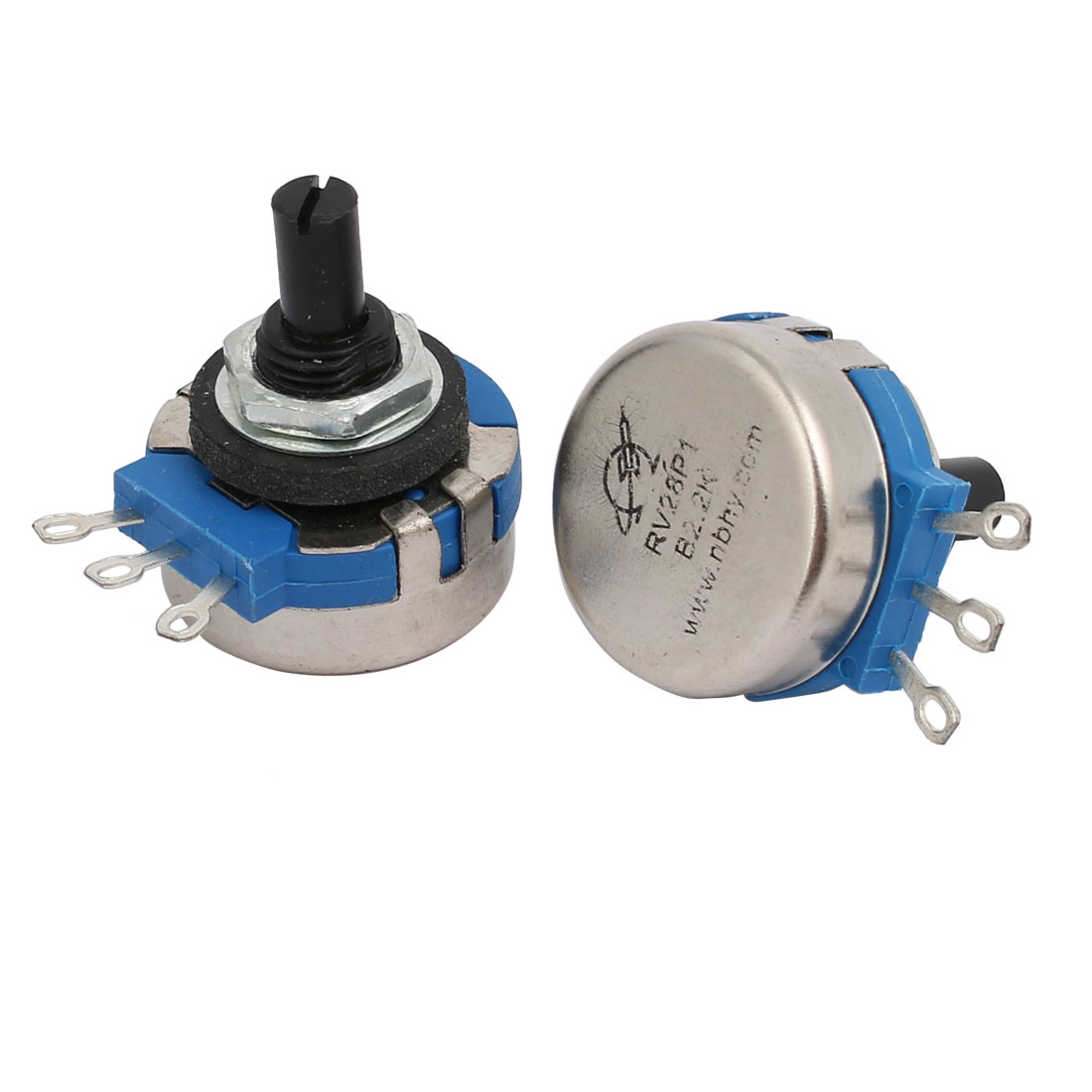 Guitar Pots Audio Tone 2.2K Ohm Potentiometer Switch Replacement 2pcs - image 1 of 2