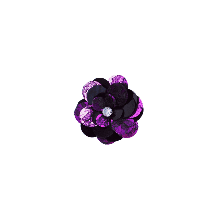 Expo Int'l Layered Lace Sequin Flower Pin and Hair (Hair Pin Lace Vest)