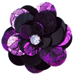 Expo Int'l Layered Lace Sequin Flower Pin and Hair Clip ()