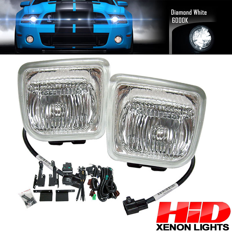 6000K Hid Fits 96-98 Honda Civic EK JDM Clear Lens Fog Lights Lamps