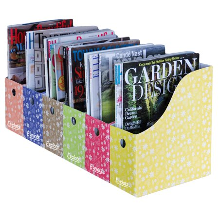 Evelots 40 MagazineFile Holders Adhesive Labels MultiColored Cool Colorful Magazine Holders