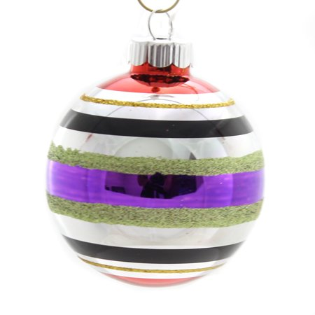 Christopher Radko HALLOWEEN ROUNDS AND FIGURES Glass Ornament 4026975S Purple - Retired Radko Halloween Ornaments