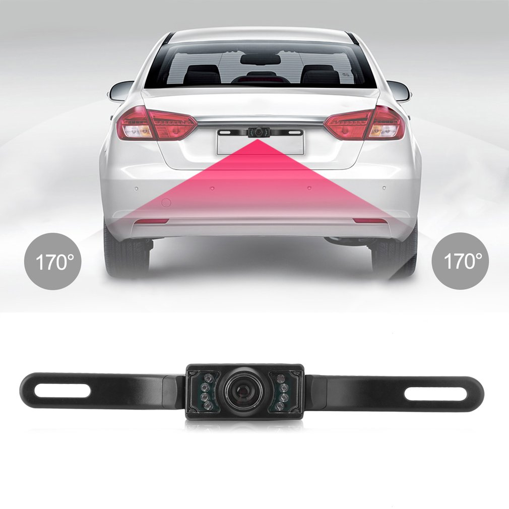 7 LED Waterproof Night Vision Car Rearview Reverse Backup Parking Camera