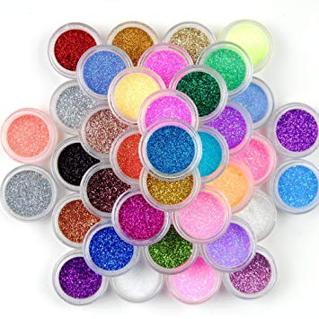 45 Colors Eyeshadow Makeup Nail Art Pigment Glitter Dust Powder