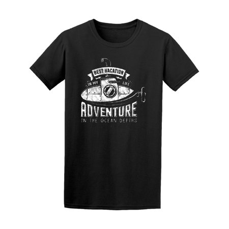 Retro Submarine Best Vacation Tee Men's -Image by (Best Solo Vacations For Men)