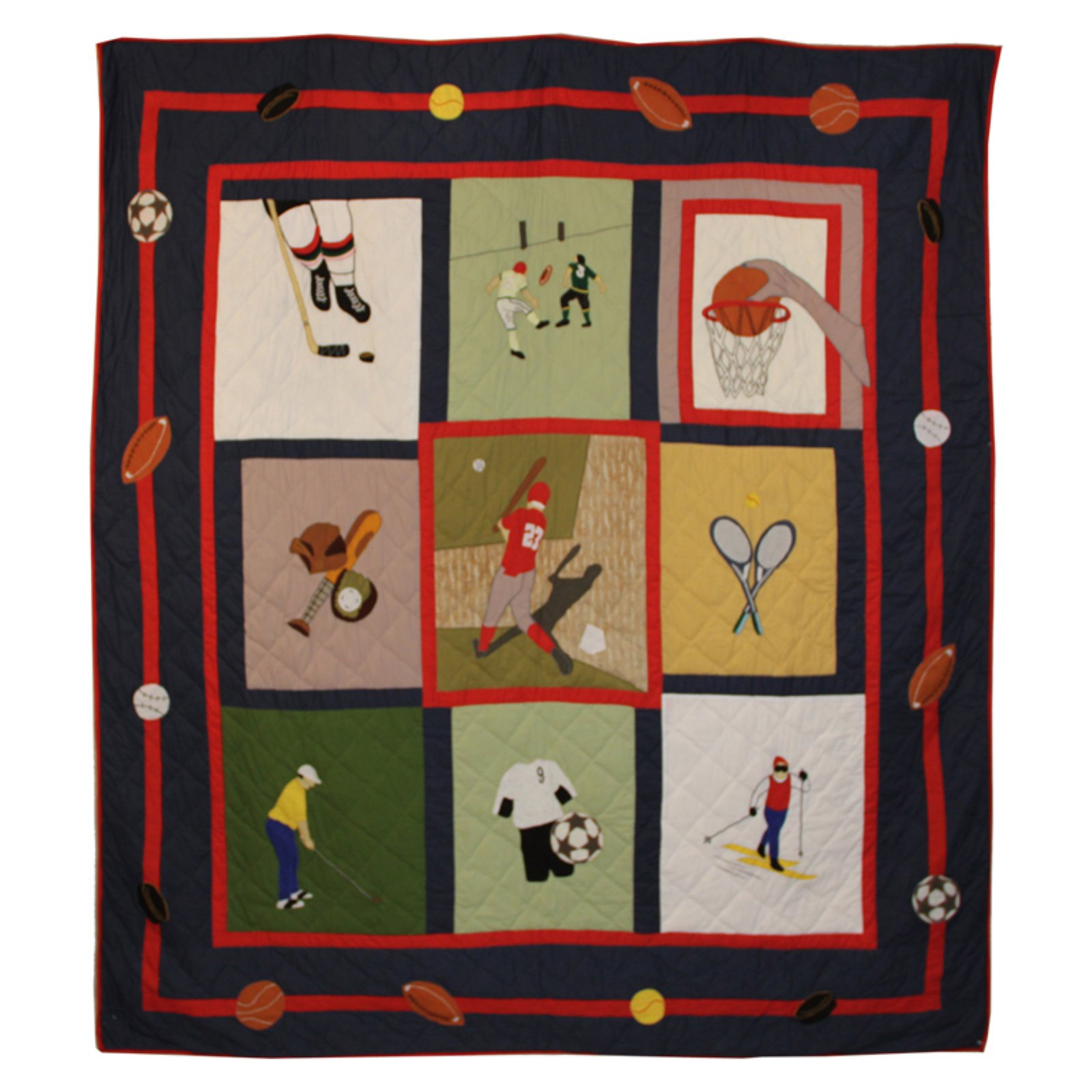 Patch Magic QTPLWN Play To Win, Quilt Twin 65 x 85 inch