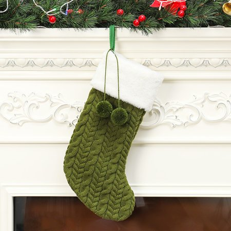 Knitted Christmas Stockings.Knitted Christmas Stockings Gift Holder Xmas Tree Hanging Ornaments Decorations
