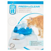 Cat It Fresh & Clear Drinking Fountain with Food Bowl