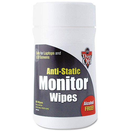 Dust-Off Pre-moistened Cloth Monitor Cleaning Wipes