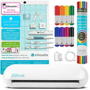 Silhouette Portrait 2 Craft Bundle with Vinyl, Pens, Tools, Class, and Memberships
