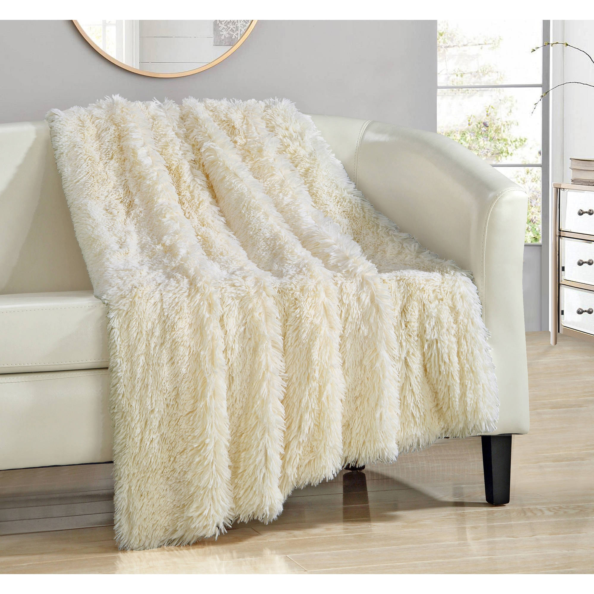 Chic Home Juneau Faux Fur Ultra Plush Decorative Throw Blanket