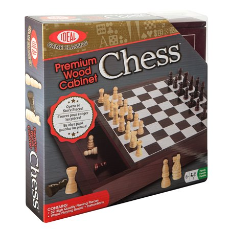 16 Wood Chess - Ideal Premium Wood Cabinet Chess