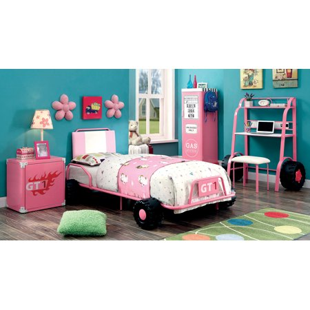 Olive Kids Vroom Race Car (Furniture of America Vroom Pink Race Car)