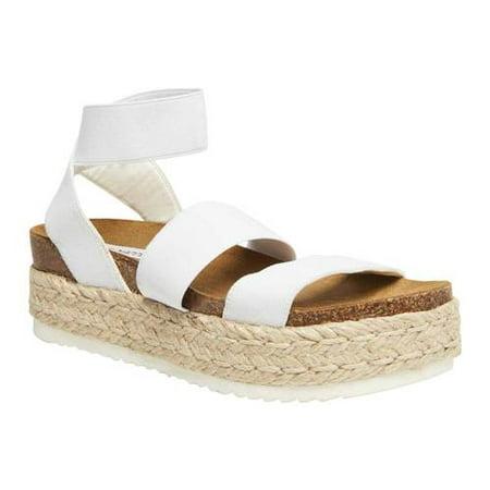 Steve Madden Kimmie Flatform Espadrille Sandal (Best Designer Wedding Shoes)