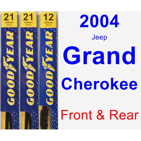 2004 Jeep Grand Cherokee Wiper Blade Set/Kit (Front & Rear) (3 Blades) - Premium