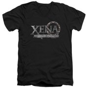 Xena Warrior Princess Battered Logo Mens V-Neck Shirt