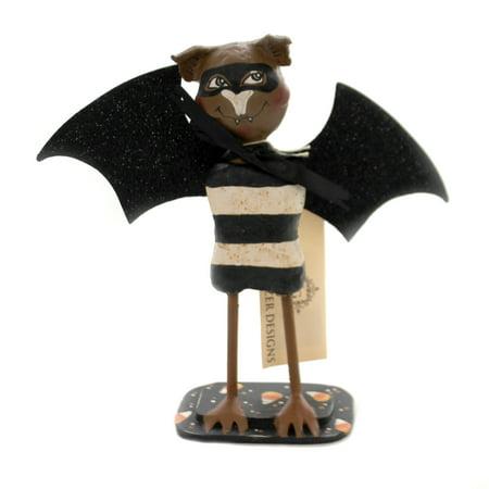 Halloween BANDIT BATTY Polyresin Lexi Grenzer Designs 72095 - Halloween Toes Designs