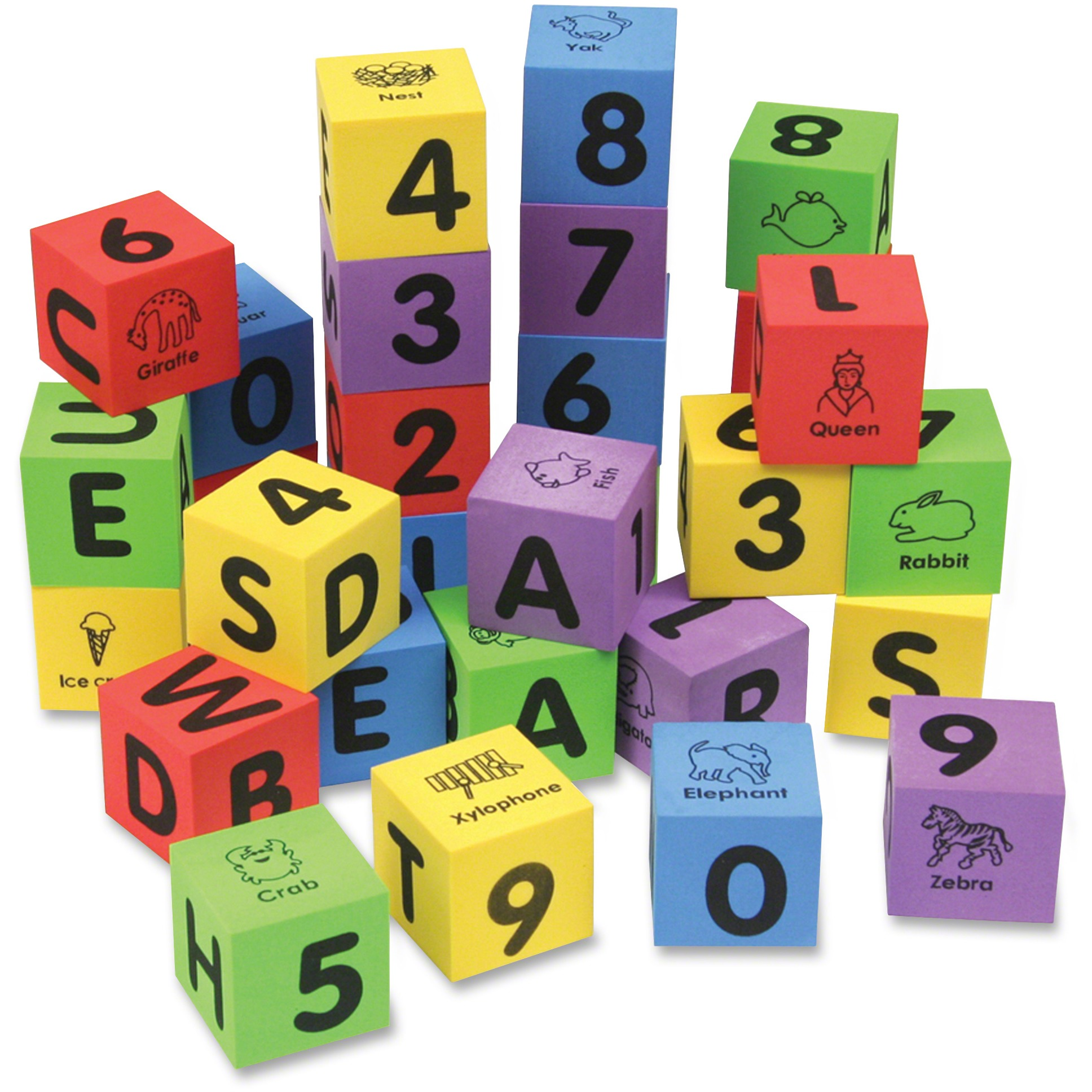 Creativity Street, CKC4416, WonderFoam Number/Letter Blocks Set, 1 Set, Assorted