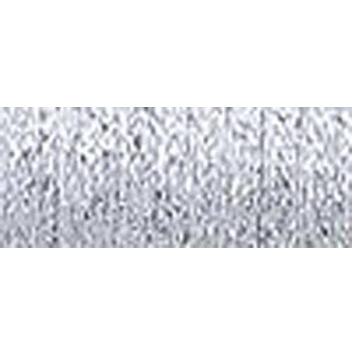 Kreinik Fine Metallic Braid, #8, 11yd, Platinum