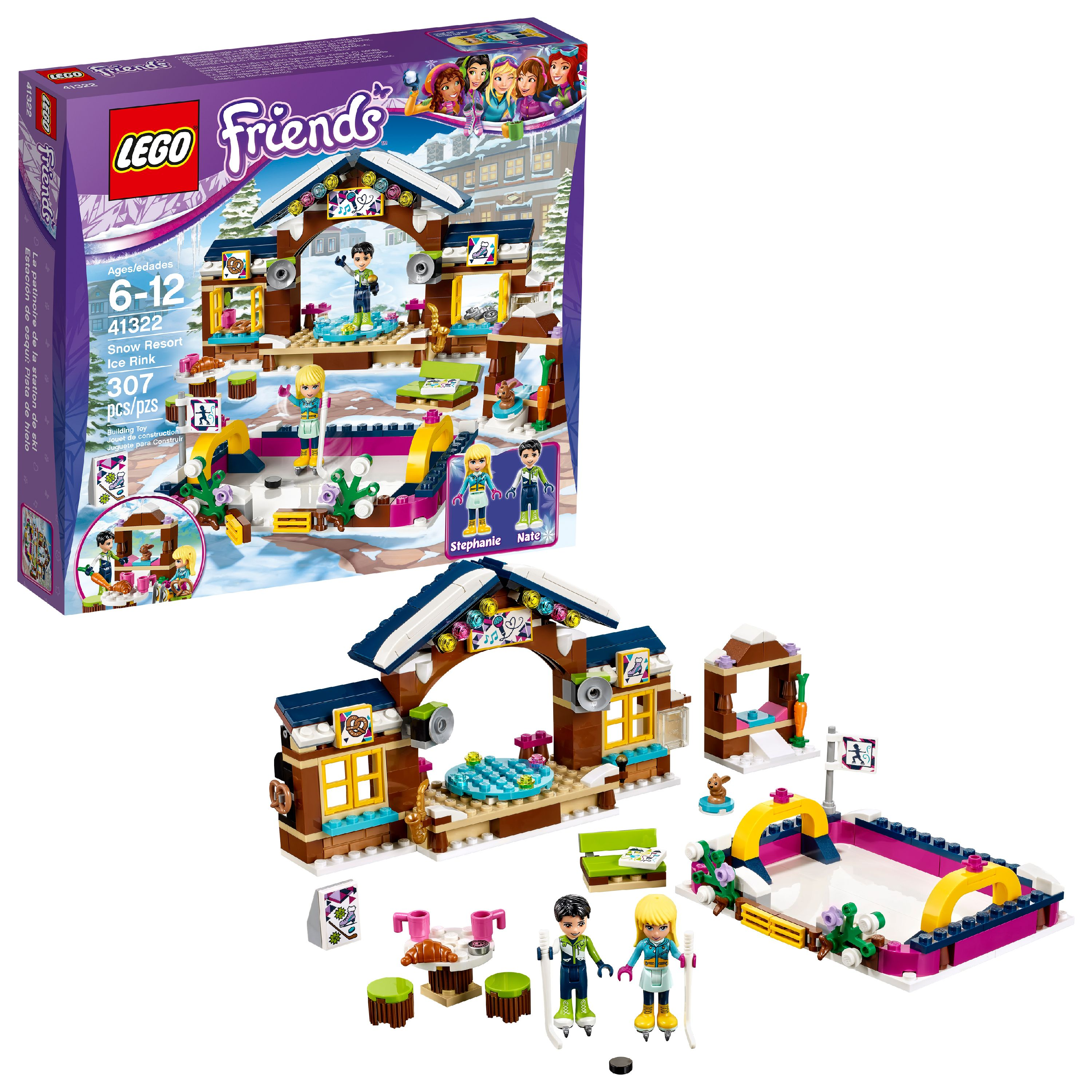 LEGO Friends Snow Resort Ice Rink 41322 (307 Pieces)